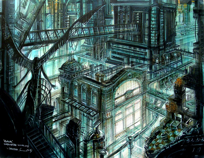 Concept1 lowercity3 for Final fantasy 8 architecture